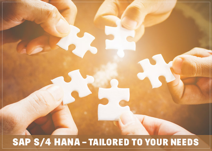 SAP S/4 HANA – Tailored to your needs