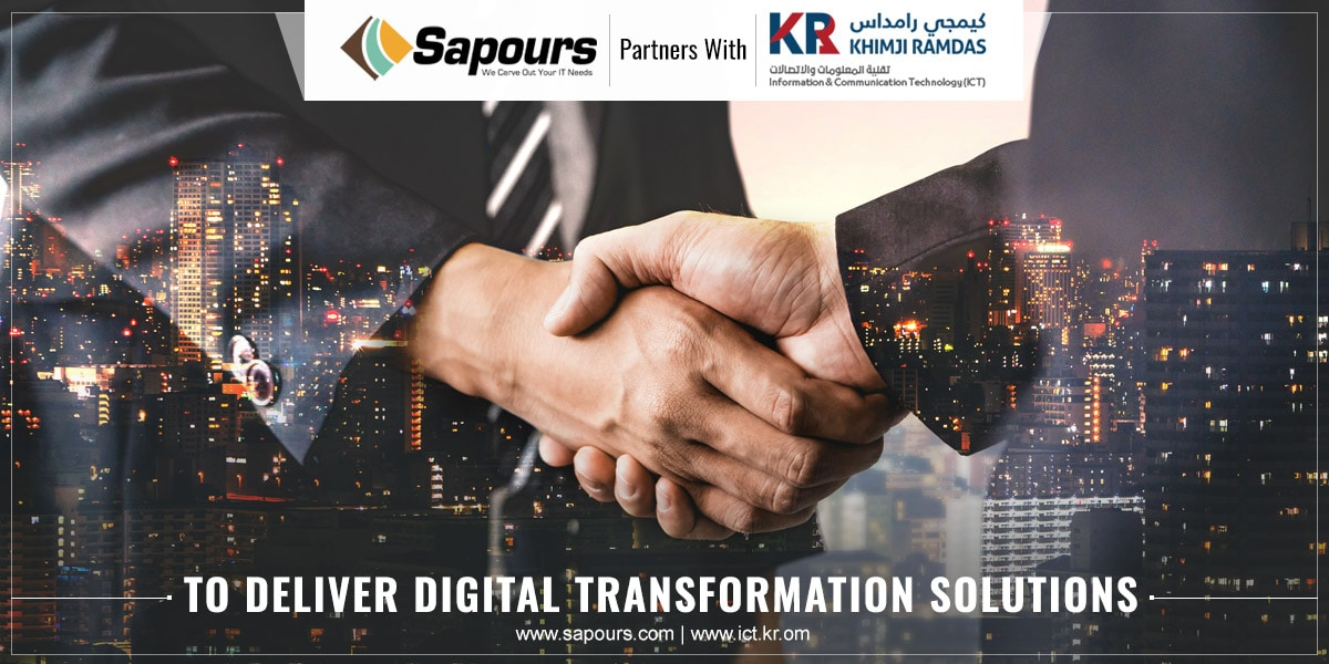 Sapours Technologies partners with KHIMJI RAMDAS - ICT